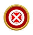 Red cross check mark icon simple style vector image vector image