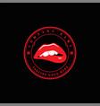 red hot sexy sensual naughty woman girl lips logo vector image vector image