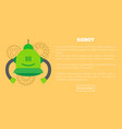 robot web page and text sample vector image vector image