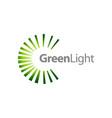 rotate splash green light logo concept design vector image