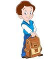 schoolboy with backpack vector image vector image