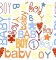 seamless kids pattern with label Baby Boy vector image vector image
