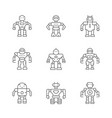 set line icons robot vector image vector image