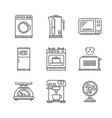 set of household appliances icons and concepts in vector image