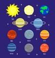 set of solar system planets vector image vector image