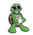 Smiling Turtle vector image vector image