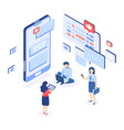 social networking group chatting isometric vector image