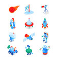 space exploration - modern colorful isometric vector image