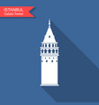 symbol istanbul and turkey galata tower vector image vector image