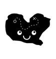 treasure map game kawaii character vector image vector image