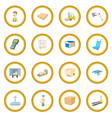 warehouse logistic storage icon circle vector image vector image