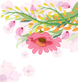 Watercolor Fuchsia flower vector image vector image