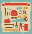 worker equipment background vector image vector image