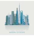 modern detailed skyline cityscape isolated City vector image