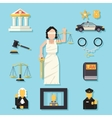 Themis Femida with scales and sword symbol of law vector image
