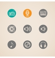 set of flat musical icons vector image