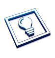 3d idea web icon vector image vector image