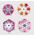 Abstract colorful snowflakes with 3D effect logo vector image vector image