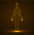 abstract neon silhouette man vector image vector image
