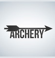archery black logo design template isolated on vector image