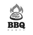 bbq grill party icon of beefsteak grilled vector image vector image