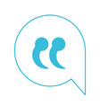 blue color silhouette of speech bubble with quote vector image