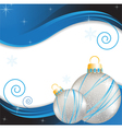 Blue wavy New Year background vector image vector image