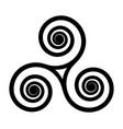 breton and celtic original triskel symbol vector image