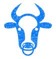 bull ring icon grunge watermark vector image vector image