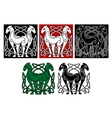 Celtic horses vector image vector image