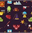 cinema genre icons set cinematography flat vector image vector image