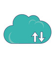 cloud computing upload and download vector image vector image