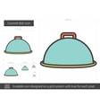 Covered dish line icon vector image