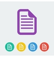 document flat circle icon vector image vector image