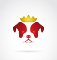 Dog crowned vector image vector image