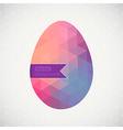 easter egg made flowers floral easter egg vector image vector image