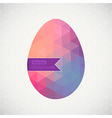 Easter egg made of flowers floral Easter egg vector image vector image