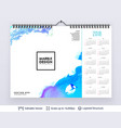 english planning calendar vector image vector image