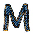 Farmerke tekstura slovo M vector image vector image