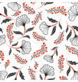 floral seamless pattern flower artistic drawn vector image