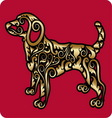 Golden dog ornament vector image vector image