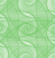 Green seamless wired swirl fractal pattern vector image vector image