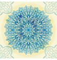 Hand drawn blue ornament vector image vector image