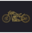 hand-painted motorcycle and lettering vector image vector image