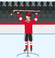 hockey player with profesional uniform and stick vector image