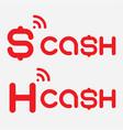 icon logo cash vector image vector image