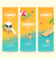 isometric summer banners vector image vector image
