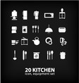 kitchen equipment set vector image vector image