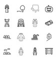 linear icons vector image vector image