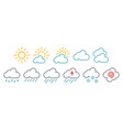 minimal simple weather reports icons vector image vector image